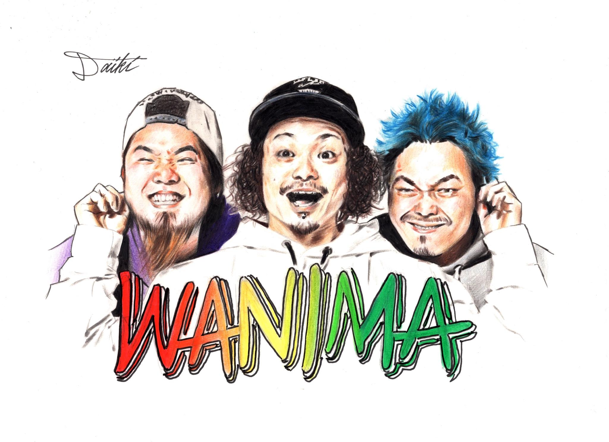 WANIMA 色鉛筆バンドイラスト