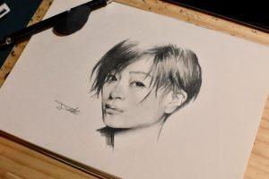 宇多田ヒカル 鉛筆画