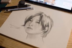 広末涼子 鉛筆画