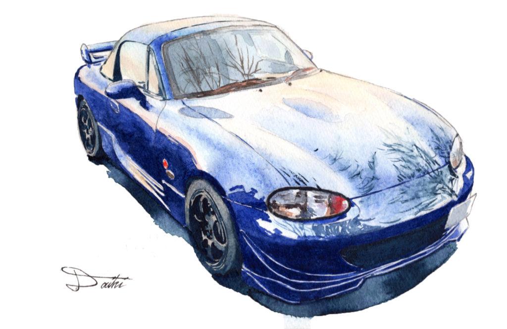 MAZDA Roadster NB8C 水彩イラスト