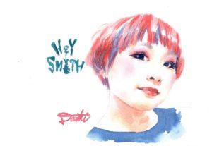 HEY-SMITH かなすちゃん 水彩似顔絵