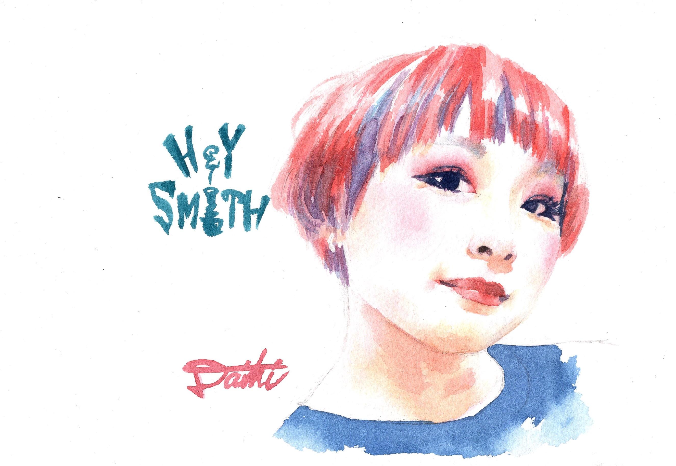 HEY-SMITH かなす 水彩似顔絵