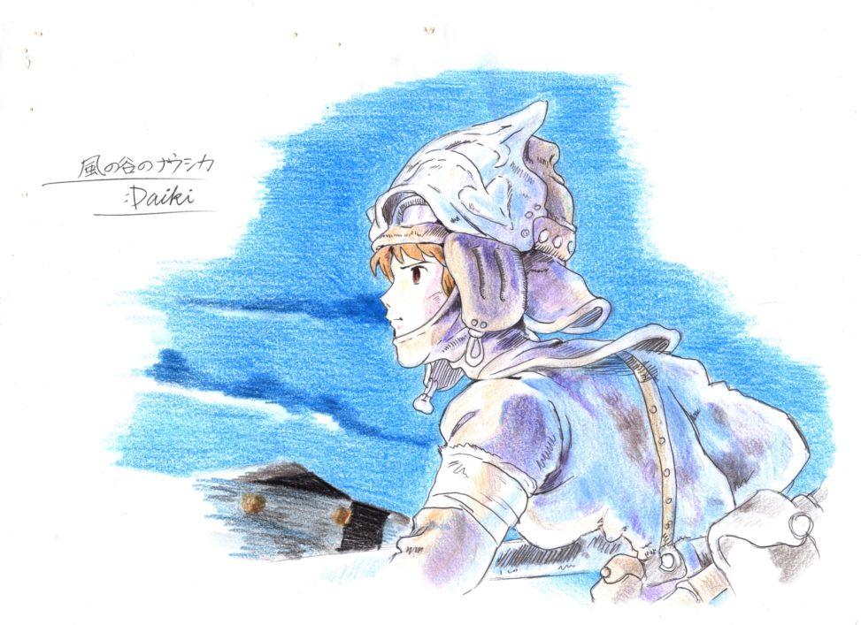 風の谷のナウシカ 色鉛筆イラスト