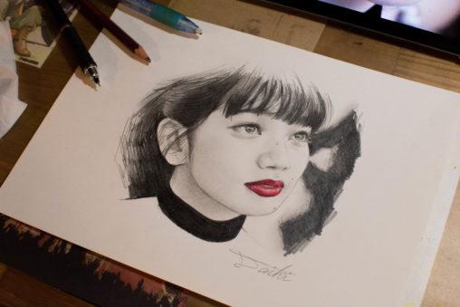 小松菜奈 鉛筆画