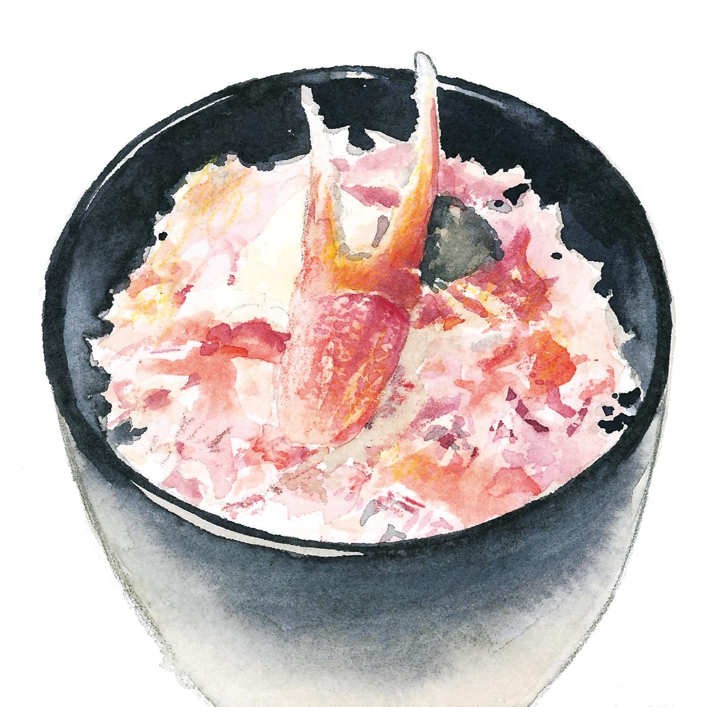 ナビカーズ vol.42 かに丼 水彩食べ物イラスト