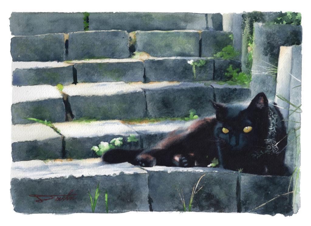 黒猫 ポジとネガ作品