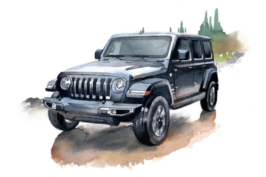 JEEP ジープラングラー 水彩車イラスト