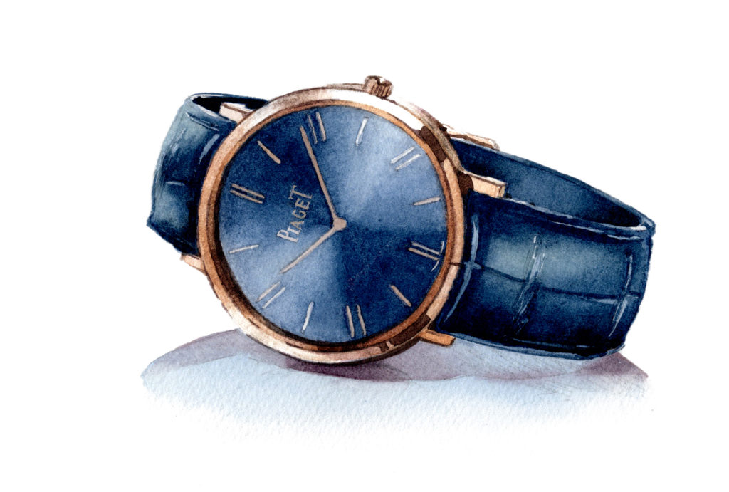 ピアジェ アルティプラノ マニュアル 水彩時計イラスト