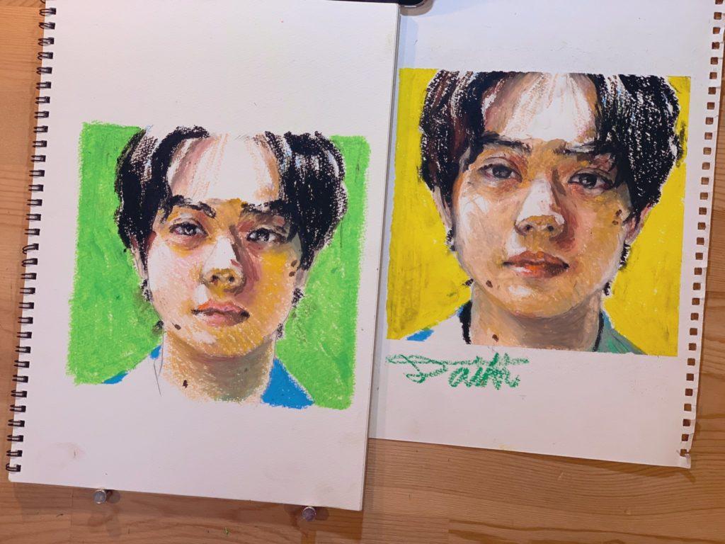 オンライン絵画教室 オイルパステル画 お絵描きポケット