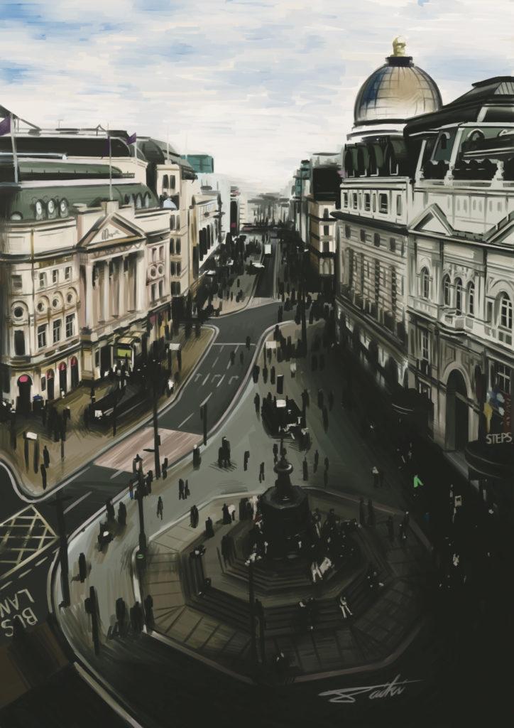 ロンドン 海外 風景イラスト