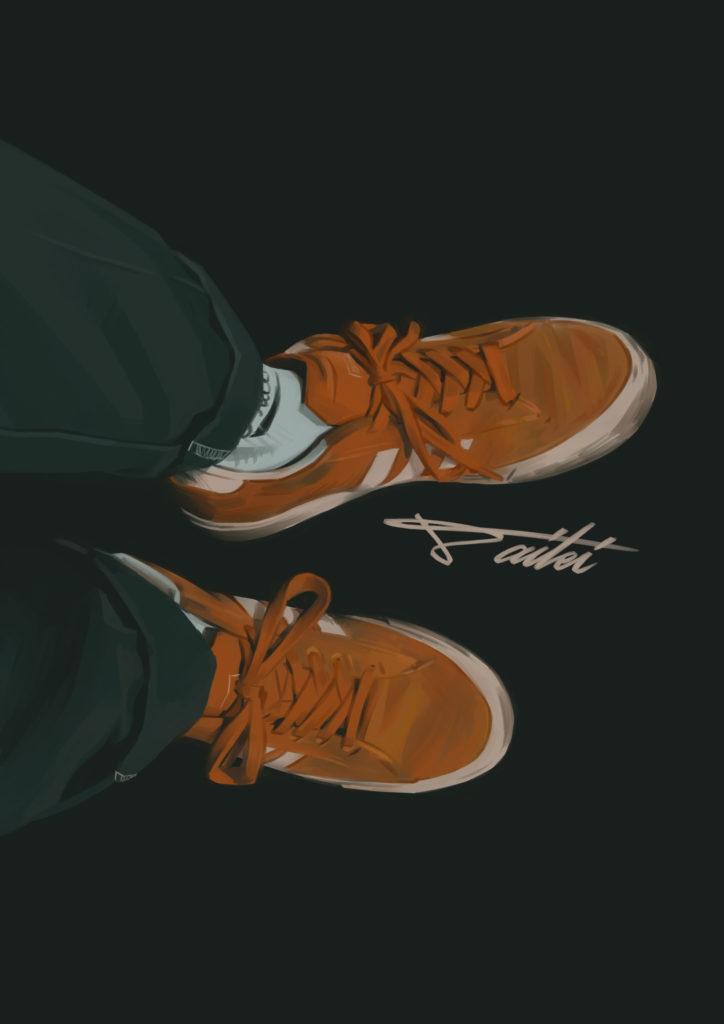 Adidas campus スニーカーイラスト