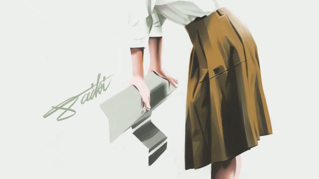 女の子 スカート 人物イラスト