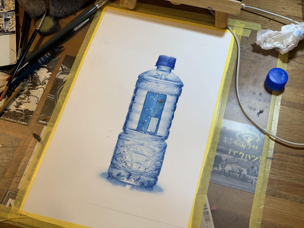 アサヒ飲料 おいしい水 ポップ ぺットボトルイラスト