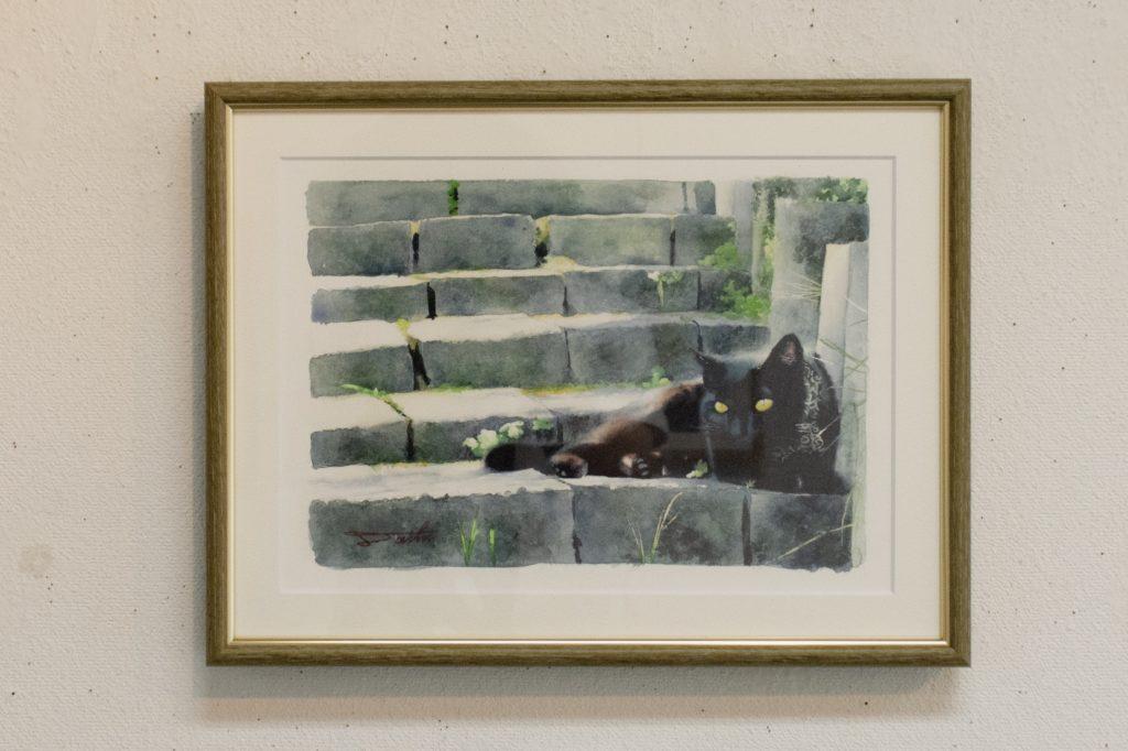コサカダイキ個展「きょせい【虚勢】」日向ぼっこ 透明水彩