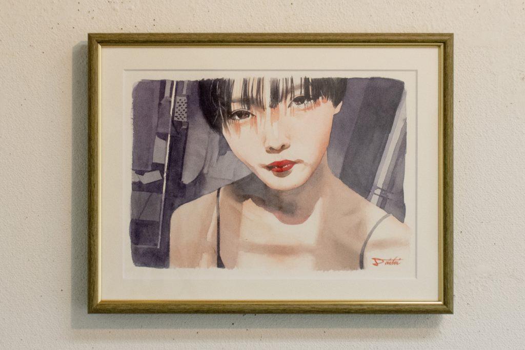 コサカダイキ個展「きょせい【虚勢】」私 透明水彩