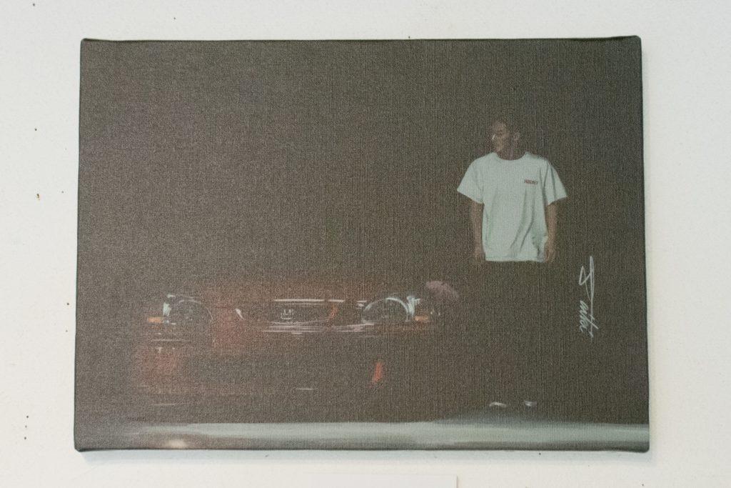 コサカダイキ個展「きょせい【虚勢】」赤い俺のEK4 デジタルペイント