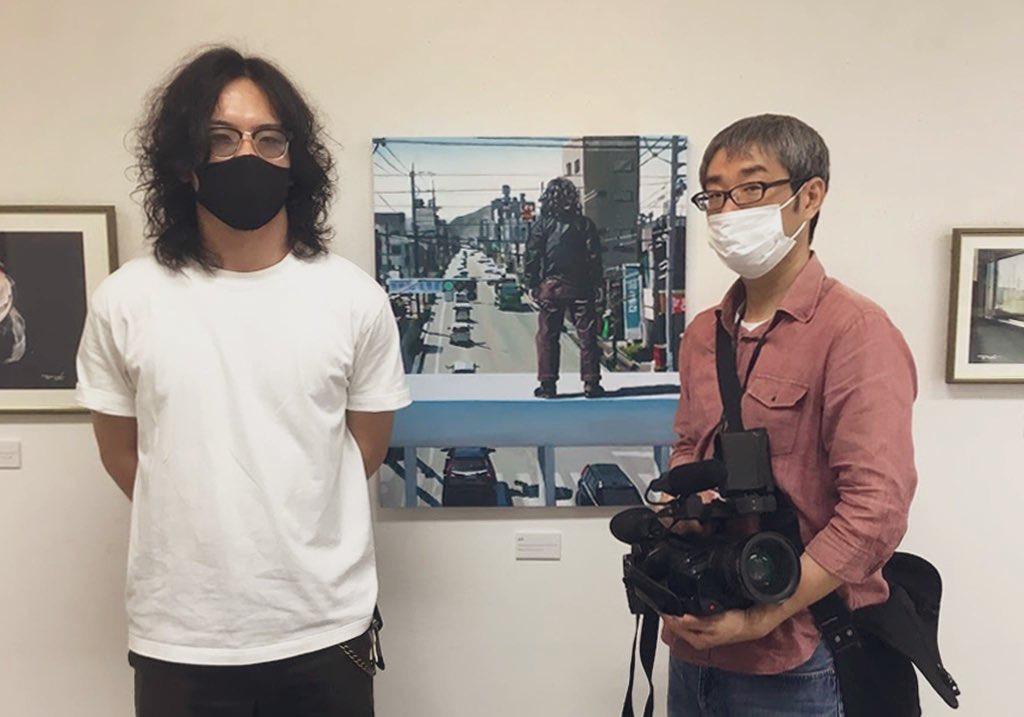 コサカダイキ個展「きょせい【虚勢】」山口ケーブルビジョン取材