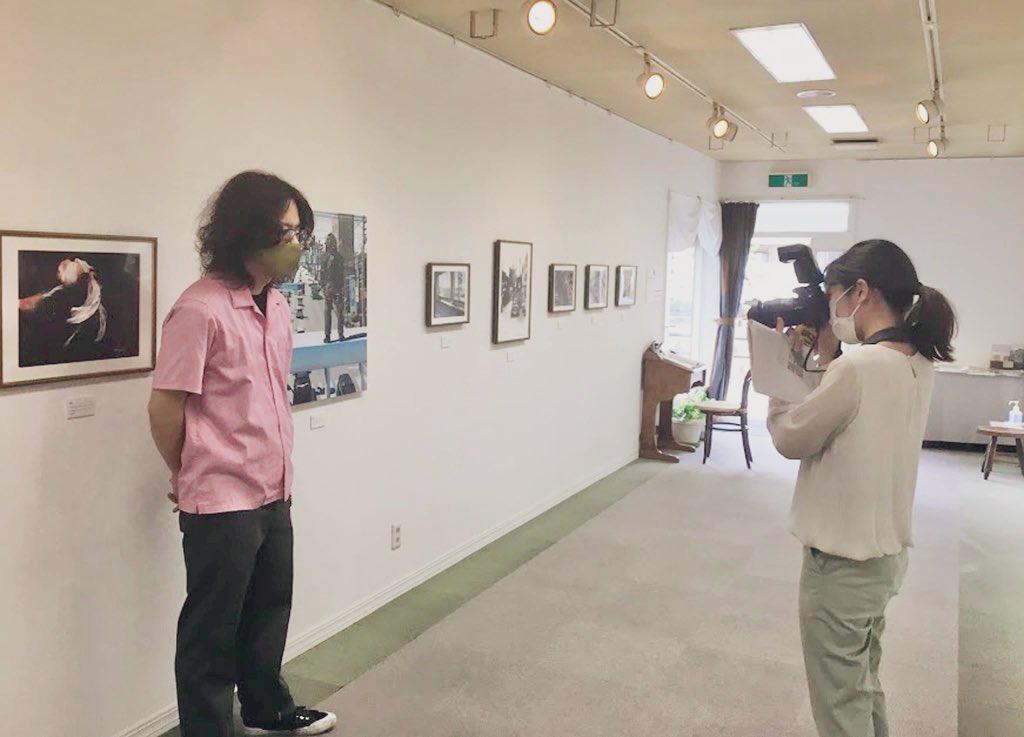 コサカダイキ個展「きょせい【虚勢】」中国新聞取材